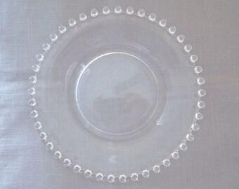 Clear glass dessert pates, IMPERIAL CANDLEWICK SALAD/Dessert Plates, 1950's, Set of 11, 8 inch diameter Glass Salad Plates,