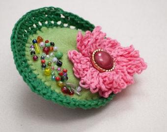 Handmade floral brooch