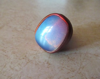 Large Opalite Adjustable Ring