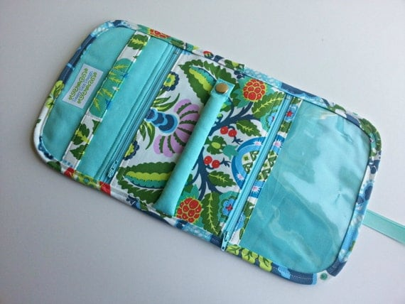 travel jewelry organizer pouch quilted in amy butler 39 s