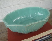 Vintage Turquoise Teal McCoy Planter Bowl Ovalish