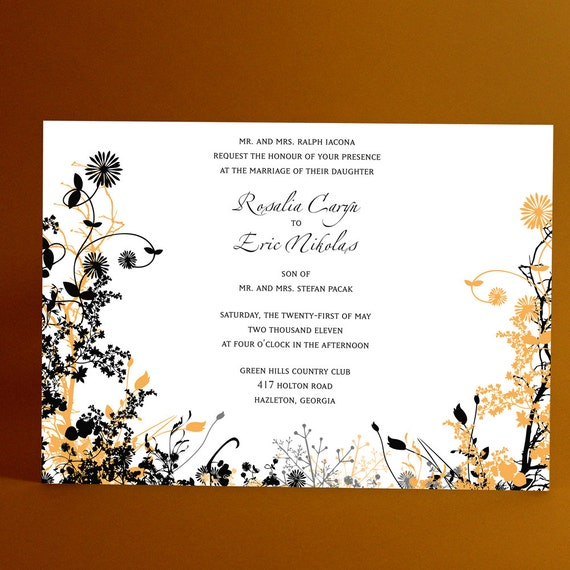 Wedding Invitations Stationery, Printed Sample of Love in Bloom Design Shows A Look of Love's Quality Product- our paper, ink, workmanship