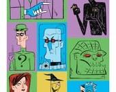 Rogues Gallery Batman villains print