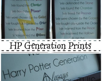 Harry Potter Generation Prints