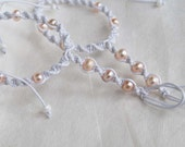 Baby Barefoot Sandals, Newborn Sandal, Baby Pearl Anklet, Christening Sandals, Photo Prop, 1 Pair