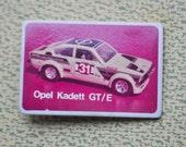 Vintage Soviet Russian plastic badge.Opel Kadett.
