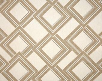 Two 26 x 26  Custom Designer Decorative Pillow Covers  Euro Shams -  Large Geometric Diamond - Grey/Tan