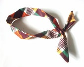Plaid Dolly Bow Headband