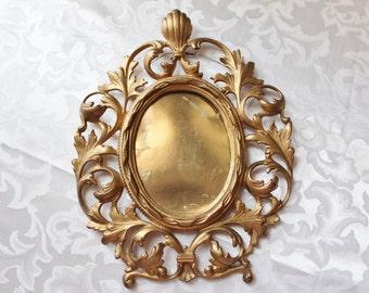 Ornate Oval Gold Frame