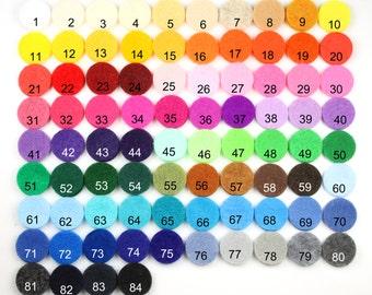 "Felt Circles 2"" - 10 Colors, 160pcs, Felt Circle, Circles, Felt Shapes, Wholesale Felt, Die Cut Felt, Felt, Pre Cut Felt Circles, Two Inch"
