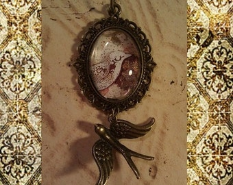Antique Swallow Necklace
