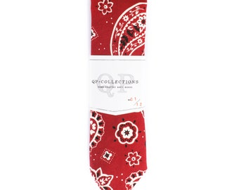 Bandana Red - Skinny Tie - Wedding - Monogram - Groom