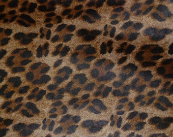 """Leather 12""""x20"""" or 10""""x24"""" or 15""""x15"""" Camel LARGE Cheetah / Leopard Print NOT Hair On Cowhide 2-2.5 oz / .8-1mm PeggySueAlso™ E5000-02"""