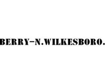 LINEBERRY N.WILKESBORO. N.C. Original Factory Cart Lettering Kit Type I