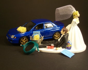 rally car wedding cake topper auto car wash dodge viper gt and groom wedding cake 18964