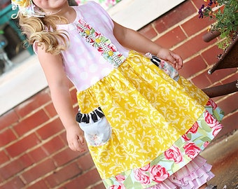 Sweet Sunshine dress.    Available girls 12 months to 12 years.