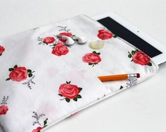 Vintage Rosesl Upcycled iPad Case