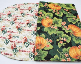 Table Runner Fall Table Runner Christmas Table Runner Quilted Table Runner Double-sided Table Runner Pumpkin Table Runner Holiday Decoration