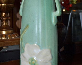 "Weller Dogwood Vase Wild Rose 8"" Art Pottery Art Deco"