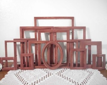 Barn Red Frame Set Large Instant Collection Rustic Shabby Chic Distressed Country Farmhouse Cabin Man Cave Home Decor Wedding Gift Him Her