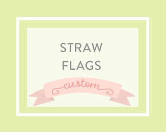 STRAW FLAGS, to match any party, printable