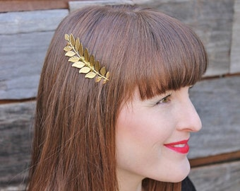 Gorgeous gold leaf Grecian Hair comb