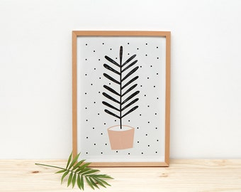 Planta Melocotón - print - 8 x 11.5 - A4 - by Depeapa