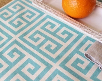 Blue Table Runner Table Cloth Runner Blue and White Greek Key Runner Premier Prints Greek Key Table Runner