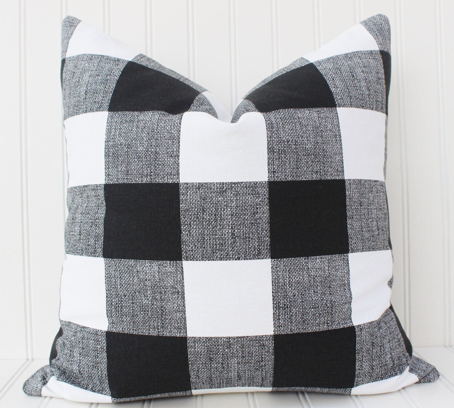 black and white buffalo check pillow cover throw. Black Bedroom Furniture Sets. Home Design Ideas