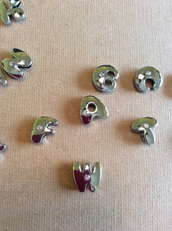 8mm w letter slide charms by dazzlingsdesigns on etsy