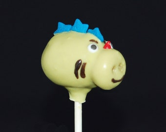 DRAGON CAKE POPS, Cake Pops, Edible Party Favors, Birthday Favors