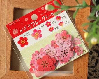 40 sakura paper stickers bag