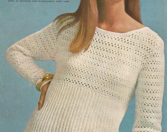 Crochet Pattern, Sweater Pattern, Instant Download, Crochet Pullover Pattern, Swimsuit Cover,