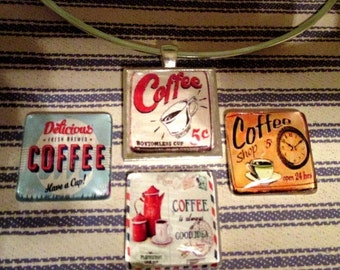 Vintage Coffee Signs Pendant