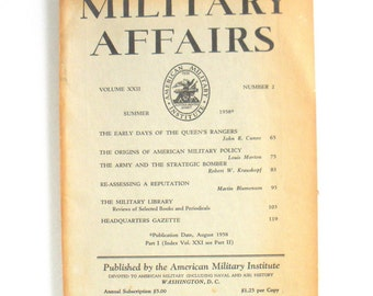 Vintage Military Affairs Book - Summer 1958 Edition