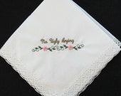 Embroidered Wedding Handkerchief for Family or Close Friend