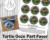 Teenage Mutant Ninja Turtles Party Favor Printable - Green Ooze