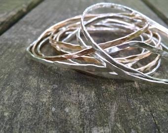 Sterling, Gold-filled, Copper Bangles, Sterling Bracelets, Copper Bracelets, Gold Bracelet, Mixed Metal Bangles, Bangles, Small Bangles
