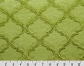 Kiwi Embossed Quatrefoil Minky From Shannon Fabrics