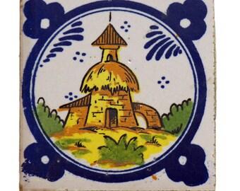 Single oriental pictorial tile