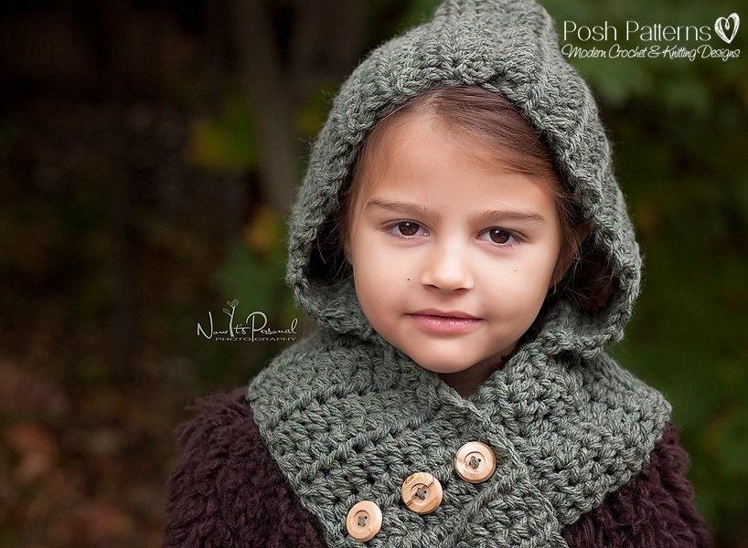 Crochet Hooded Cloak Pattern Crochet Pattern Hooded Cowl