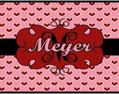 Personalized Valentine Door Mat