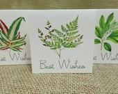 Woodland Wish Tags, Botanical wish tags, Leaf Wish Tags, Wedding Wish Tags, Guest Book alternative, Spring Wedding Wish Cards, Summer Tags