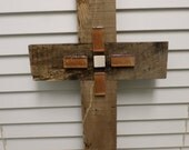 Valentines Gift Large Rustic Wood Cross Cypress Country Cottage Rustic Home Rustic Wedding Nature Tile Cross Reclaimed Wood Easter Primitive