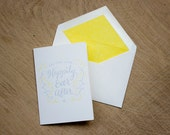 Happily Ever After Letterpress Greetings Card
