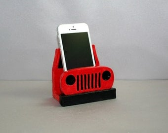 FOR AAnim: Big Nose Jeep (RED with BLACK grill) business card, phone, post-it note holder. Exclusive to Ek Creations. Exclusive Design.
