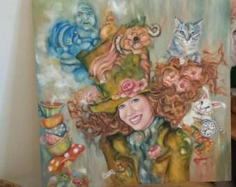 24x24 Custom Portrait...Fairy Tale Theme, Harry Potter Theme, Alice and Wonderland Theme, etc