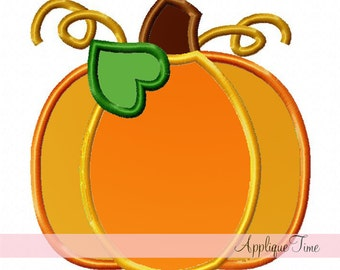 Instant Download Pumpkin with Vine Machine Embroidery Applique Design 4x4, 5x7 and 6x10