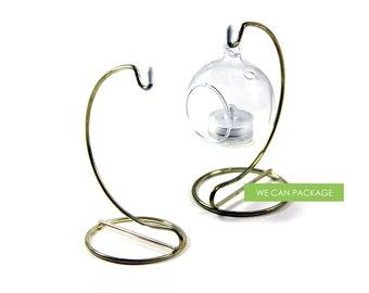 Terrarium Stand for Hanging Glass Orbs Globes Tabletop Decoration