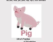 Pig Machine Embroidery Design